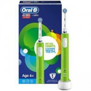 Детска електрическа четка за зъби Oral-B Junior, 6+ години, Зелена
