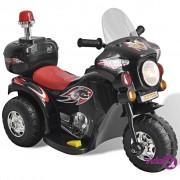 vidaXL Motocikl na Baterije za Djecu Crni