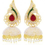 Penny Jewels Traditional Gold Plated Wedding Contemporary Handmade Jhumka/Jhumki Earring Set For Women Girls