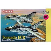 Dragon #4594 Warbird Series Tornado ECR Lechfeld Tigers German Operated 2 Model Airplanes Kit 1/44 Scale