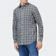 Diesel Men's S-Cull-A Long Sleeve Checked Shirt - Vapourous Gray - S - Blue