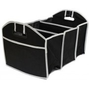 divinz Travel Trunk Cooler Insulated Leak Proof Collapsible Car Boot Organizer(Black)