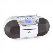 Auna Jetpack portable Boombox USB CD MP3 UKW Batteriebetrieb weiß
