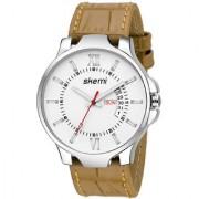 Skemi Analog Round White Dial Men Watch/Fashionable Men Watch/Watches For Men