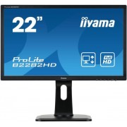 "Monitor TN LED iiyama 21.5"" B2282HD, Full HD (1920 x 1080), DVI, VGA, 5 ms, Pivot (Negru)"