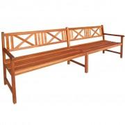 vidaXL Bancă de grădină, lemn masiv de acacia, 240 x 56 x 90 cm, maro