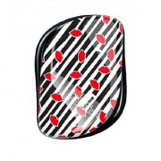 Cosmix Stores Tangle Remover Compact Styler Detangling Brush (Black White Strip Pattern)
