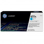 HP 651A Cyan LaserJet Toner Cartridge (CE341A)