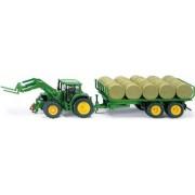 Siku John Deere traktor med balar och trailer - Siku traktor 1:32 3862