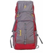 farewell 50L BACKPACK FOR OUTDOOR SPORT HIKING TRUKKING BAG CAMPING RUCKSACK ONE YEAR WARRENTY Rucksack - 50 L(Red, Grey)