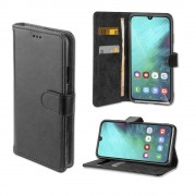 4smarts Premium Wallet Case URBAN - кожен калъф с поставка и отделение за кр. карта за Samsung Galaxy A40 (черен)