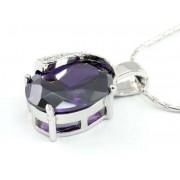Swarovski kristályos nyaklánc lila szinű köves medállal