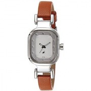 Fastrack Analog Silver Rectangle Watch -6145SL01