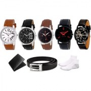 DCH WBSIN-1.2.5.21.22 Pack Of 5 Analogue Wrist Watches For Men And Boys