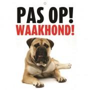 Merkloos Honden waakbord pas op Waakhond 21 x 15 cm