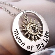 Game of Thrones Song Of Ice and Fire Khal Khaleesil Moon Of My Life Sun And Stars Metal Necklace Locket Pendant Cospaly - No Box