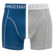 Boxershorts 2-pack Blauw & Grijs