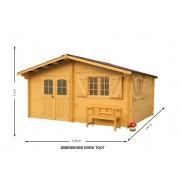 Abri jardin DOUBLE VITRAGE 5x4m « Nancy-Lorraine-Luxe »