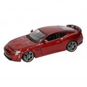 Bburago Modelauto Jaguar XKR-S bordeaux rood 1:24