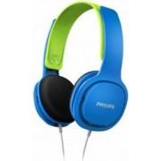 Casti audio pentru copii Philips SHK2000BL/00, design ergonomic, izolare fonica, supraauriculare, Albastru/Verde
