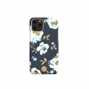 KINGXBAR Flower Series PC Phone Cover with Magnetic Sheet for Apple iPhone 11 6.1 inch - Gardenia