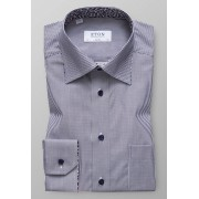 Eton Overhemd Striped Floral Detail Navy / male