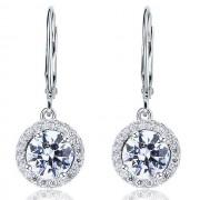 Cercei Borealy Argint 925 Diamonds Halo Dangle