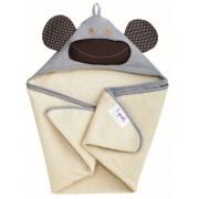 Детское полотенце с капюшоном 3 Sprouts Серая обезьянка Grey Monkey