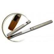 Pensula maner metalic, plata, marimea 6, art. nr.: 40003