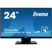 iiyama 24' PCAP 10-Points Touch Screen, Anti Glare coating, 1920 x 1080, IPS-panel, Slim Bezel, Speakers, VGA, HDMI, Height Adjust., 250 cd/m²