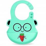 REGAL Cute Animals Silicone Baby Bibs Waterproof Baby Drool Bibs with Wide Pocket BPA-Free Easily Wipe Clean Cute Carto