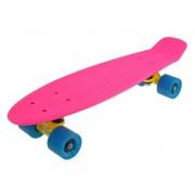 Penny Board Slv Neon 22 INCH roz cu albastru