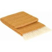 Patura lana merinos Valentini Bianco Oslo 140 x 200 cm Culoare Mustar