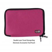Bolsa de almacenamiento de viaje de doble capa Accesorios electrónicos Bolsa de herramientas Organizador