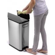 EKO Ecofly avfallsbehållare 45 liter silver