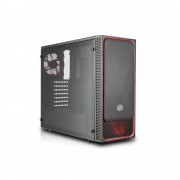 CASE, CoolerMaster MasterBox E500L RED LED fan, Middle Tower, Black /no PSU/ (MCB-E500L-KA5N-S01)