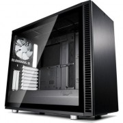 Carcasa Fractal Design Define S2 Black Tempered Glass, ATX Mid Tower, fara sursa, Negru