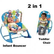 Nyrwana Multifunctional Vibration Musical Rocking Bouncer Swing Electronic Baby Chair (Blue, rcktt17802)