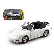 Bburago Porsche 911 Carrera Cabriolet White 1/24 Diecast Car Model By
