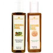Park Daniel Premium Moringa oil and Sesame oil combo of 2 bottles of 100 ml (200ml)
