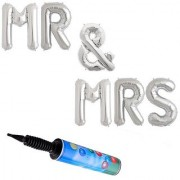 De-Ultimate Set Of Inflator Balloons Air Pump MR And MRS Alphabets Foil Balloons For Weddings Engagement Parties Decor