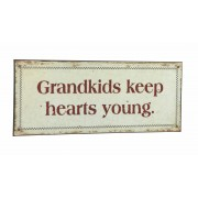 "Plechová retro ceduľa ""GRANDKIDS KEEP HEARTS YOUNG ..."""