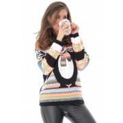 Pulover de Craciun, cu pinguin dragut, ROH - BR2214