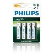Philips Batterij Penlite R6UM3 Mignon Longlife 1.5V AA Per 4