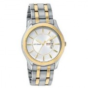 Titan Quartz White Dial Mens Watch-1627BM01