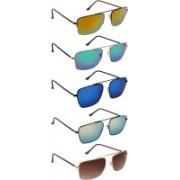 NuVew Wayfarer Sunglasses(Blue, Green, Red, Golden, Brown)