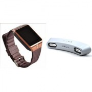 Zemini DZ09 Smart Watch and Gibox G6 Bluetooth Speaker for SAMSUNG GALAXY MEGA PLUS(DZ09 Smart Watch With 4G Sim Card Memory Card| Gibox G6 Bluetooth Speaker)
