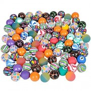Bouncy Ball Assortment Bulk Pack Of 100 Super Balls In Bright Colors And Mixed Designs