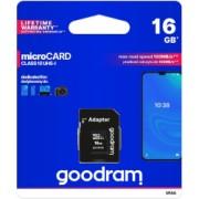 Card Microsd Goodram 16gb Hc Uhs-i clasa 10 adaptor Sd