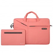 CARTINOE TuYue Series 12-inch Large Capacity Laptop Bag with Small Bag - Pink